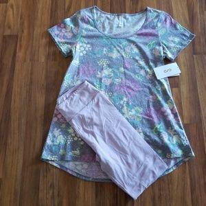 Lularoe Disney Minnie/OS classic tee small outfit